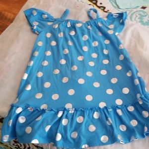 Cute blue with silver polka dots dress